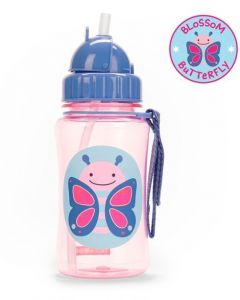 Skip Hop Zoo Straw Bottle 12 oz - Butterfly