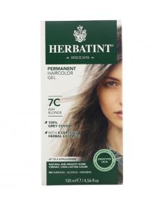 意大利Herbatint天然植物染发剂 7C-灰亚麻色 40余年无氨植物染发专家 孕妇可用