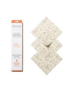 Abeego 蜂蠟保鮮膜中 3 Medium Wraps