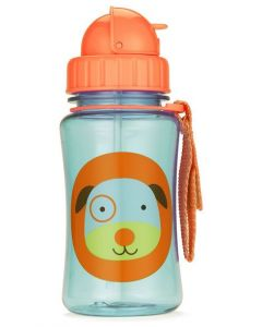 Skip Hop Zoo Straw Bottle 12 oz - Dog