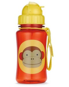 Skip Hop Zoo Straw Bottle 12 oz -Monkey