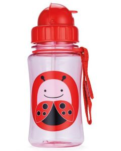 Skip Hop Zoo Straw Bottle 12 oz -LadyBug