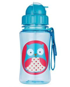 Skip Hop Zoo Straw Bottle 12 oz -Owl