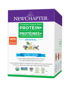 New Chapter Complete Organic Plant Protein+ Original Vanilla Box 10x28g