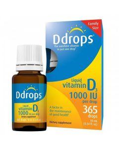 Ddrops Vitamin D3 1000IU 365 drops