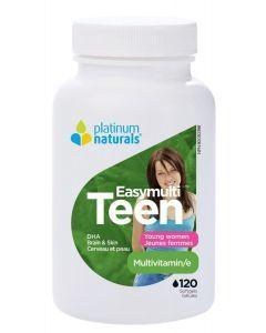 Platinum Naturals青少年女孩綜合營養素膠囊120粒