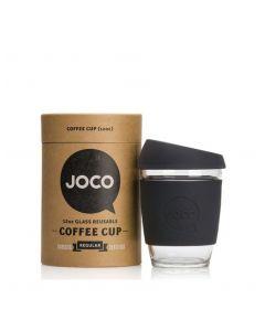 JOCO 可重複使用的玻璃咖啡杯 in Black 12oz