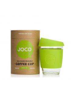 JOCO 可重複使用的玻璃咖啡杯 in Lime 12oz