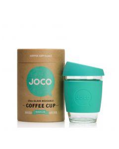 JOCO 可重複使用的玻璃咖啡杯 in Mint 12oz