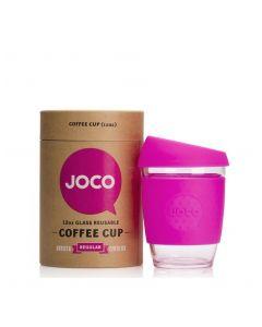 JOCO 可重複使用的玻璃咖啡杯 in Pink 12oz