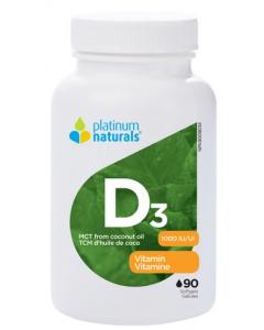 Platinum Naturals Vitamin D3 90 Softgels