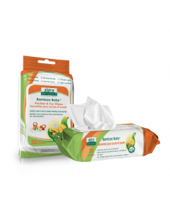 Aleva Naturals Bamboo Baby Pacifier & Toy Wipes 30 Wipes