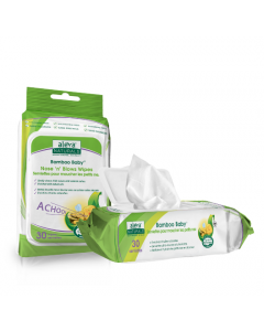 Aleva Naturals Bamboo Baby Nose 'n' Blows Wipes 30 Wipes