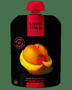 Love Child 有機果泥(香蕉,草莓和桃子),125毫升無麩質