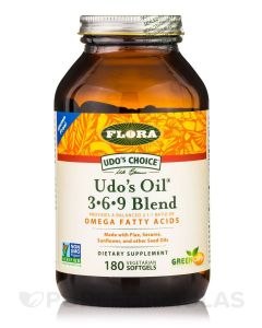 Flora Udo's Oil  Omega 3 + 6 + 9混合软胶囊  90粒