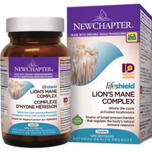 New Chapter LifeShield Lion's Mane Whole Life-Cycle Activated Mushrooms 72 Capsules
