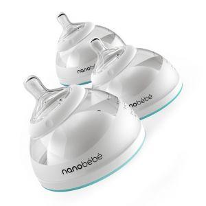 Nanobebe Breastmilk Bottle 3 Pack 5oz/150ml - Teal