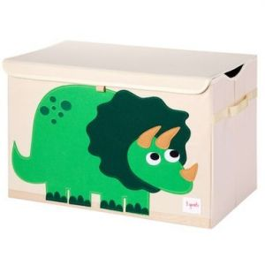 3 Sprouts Toy Chest - Dinosaur Green