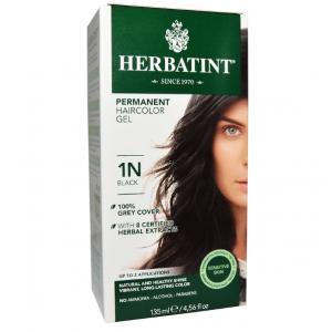 意大利Herbatint天然植物染发剂 1N-黑色 40余年无氨植物染发专家 孕妇可用