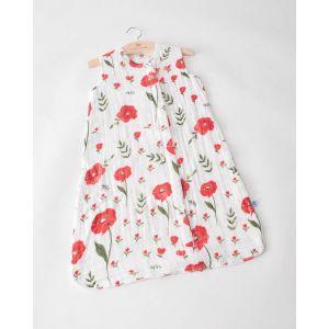 Little Unicorn Cotton Muslin Sleep Bag Small Summer Poppy