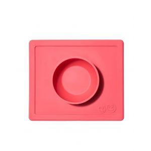 EZPZ 快乐吸盘餐盘 有碗 ( 红色 )