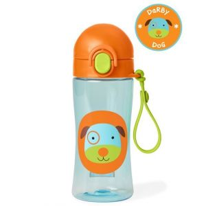 Skip Hop Zoo Lock Top Sports Bottle-Dog 14oz