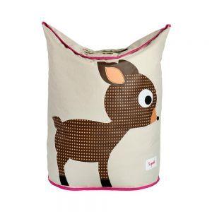 3 Sprouts Laundry Hamper Deer - Brown