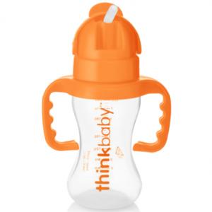 Thinkbaby Thinkster Straw Bottle Orange 9oz 260ml