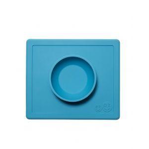 EZPZ 快乐吸盘餐盘 有碗 (蓝色 )