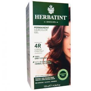 意大利Herbatint天然植物染发剂 4R-铜栗色 40余年无氨植物染发专家 孕妇可用