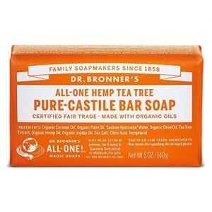 Dr. Bronner's Pure Castile Bar Soap Tea Tree 140g