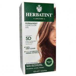 意大利Herbatint天然植物染发剂 5D-浅金栗色 40余年无氨植物染发专家 孕妇可用