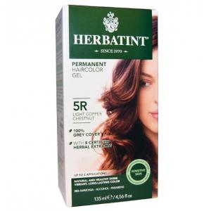 意大利Herbatint天然植物染发剂 5R-浅铜栗色 40余年无氨植物染发专家 孕妇可用
