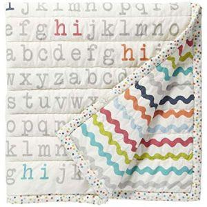 Pehr Designs Hi Alphabet Blanket In Multi