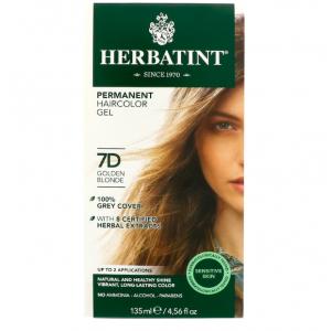 意大利Herbatint天然植物染发剂 7D- 金亚麻色 40余年无氨植物染发专家 孕妇可用