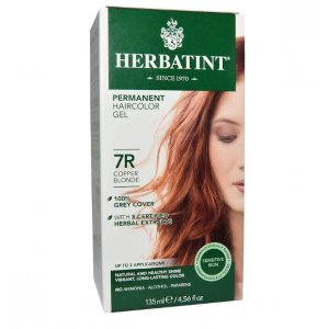 意大利Herbatint天然植物染发剂 7R-铜亚麻色 40余年无氨植物染发专家 孕妇可用