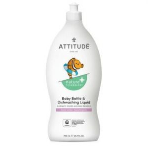 Attitude Nature+ Little Ones Baby Bottle & Dishwashing Liquid Sweet Lullaby 700ml