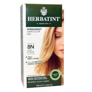 意大利Herbatint天然植物染发剂 8N-浅亚麻色 40余年无氨植物染发专家 孕妇可用