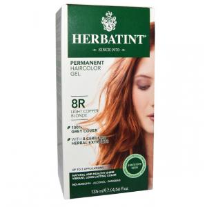 意大利Herbatint天然植物染发剂 8R-浅铜亚麻色 40余年无氨植物染发专家 孕妇可用