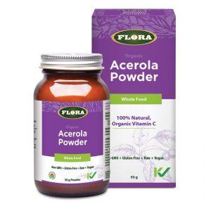 Flora Acerola Powder Whole Food Organic Vitamin C 50g