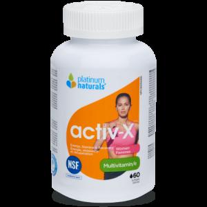 Platinum Naturals Activ-X Women Multivitamin 60 Softgels