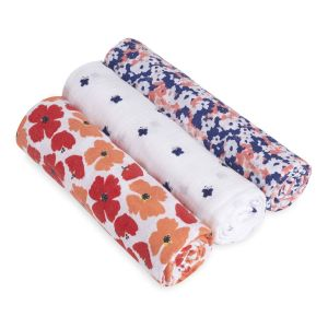 Aden & Anais Classic Swaddles - Flora 3-pack