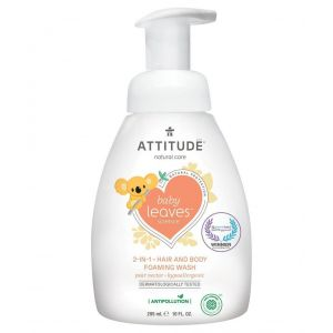 Attitude Baby Leaves 2-in-1 Foaming Wash Pear Nectar 295ml