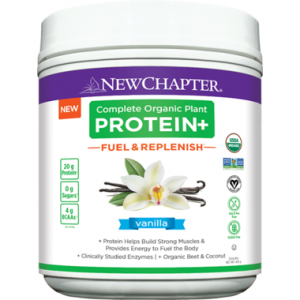 New Chapter Complete Organic Plant Protein+ Fuel & Replenish Vanilla 435g