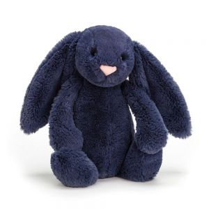 Jellycat Bashful Bunny Toy - Navy