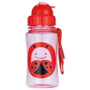Skip Hop Zoo Straw Bottle 12 oz -LadyBug