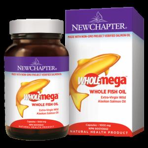 New Chapter Wholemega Fish Oil 1000mg 120 Capsules
