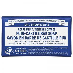 Dr. Bronner's Pure Castile Bar Soap Peppermint 140g