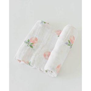 Little Unicorn Organic Cotton Muslin Swaddle Single Watercolor Rose