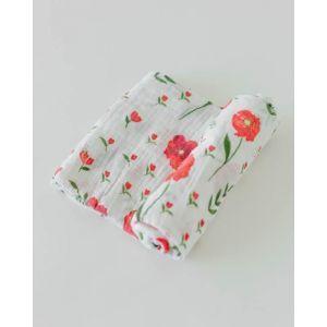 Little Unicorn Organic Cotton Muslin Swaddle Single Summer Poppy